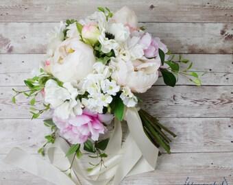 Wedding Bouquet, Bridal Bouquet, Boho Bouquet, Peony Bouquet, Anemone Bouquet, Large Bouquet, Silk Bouquet, Artificial Bouquet, Wedding Set
