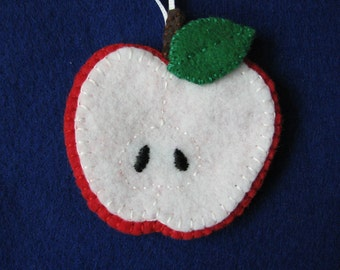 Apple felt ornament