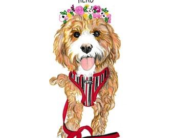 One Pet.Custom Pet Portrait. Pencils Pet Portrait hand painted from you photo. Pet Art. Art for pet owners. Pet Memorial Art. Gift Idea.