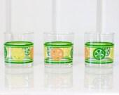Citrus Juice Glasses - Set of 3