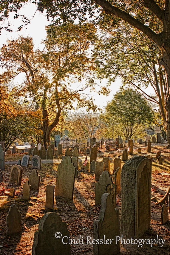 Burial Hill, Photography, Cemetery, Plymouth Massachusetts, Historic Cemetery