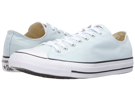 Custom Baby Ice Blue Converse Glacier Polar Canvas Low w/ Swarovski Crystal Rhinestone Bling Jewel Bling Chuck Taylor All Star Sneaker Shoes