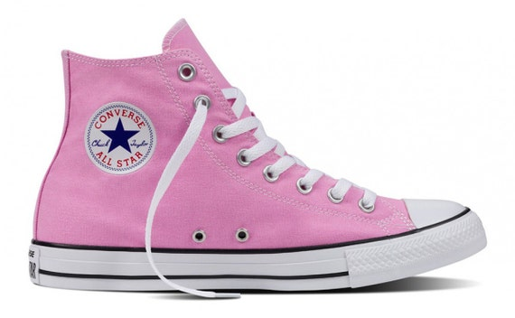 Converse High Top Ladies Icy Pink Cotton Candy Ice Bling w/ Swarovski Crystal Jewels Chuck Taylor Rhinestone Trainers All Star Sneaker Shoes
