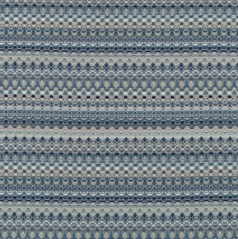 Blue Grey Woven Upholstery Fabric By The Yard Contemporary