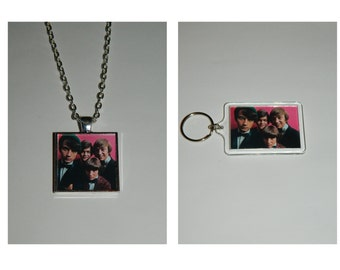 The Monkees Glass Pendant Necklace and/ or Keychain