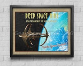DS9 Travel Poster | Deep Space Nine poster | Vintage look print | Vintage travel | Fantasy travel poster