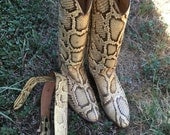 Genuine snakeskin boots by Justin