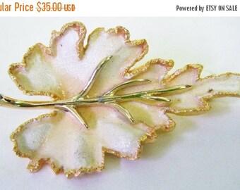25% Off Storewide Sale Vintage BSK Leaf Brooch Absolutely Stunning!!