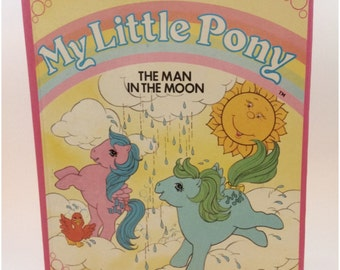 Vintage Hasbro The Man in the Moon- MLP Children's Hardback Book 1980s