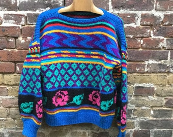 Hand made knit jumper size S/M/L