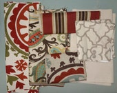 Remnant/Scrap Fabric - red fabric