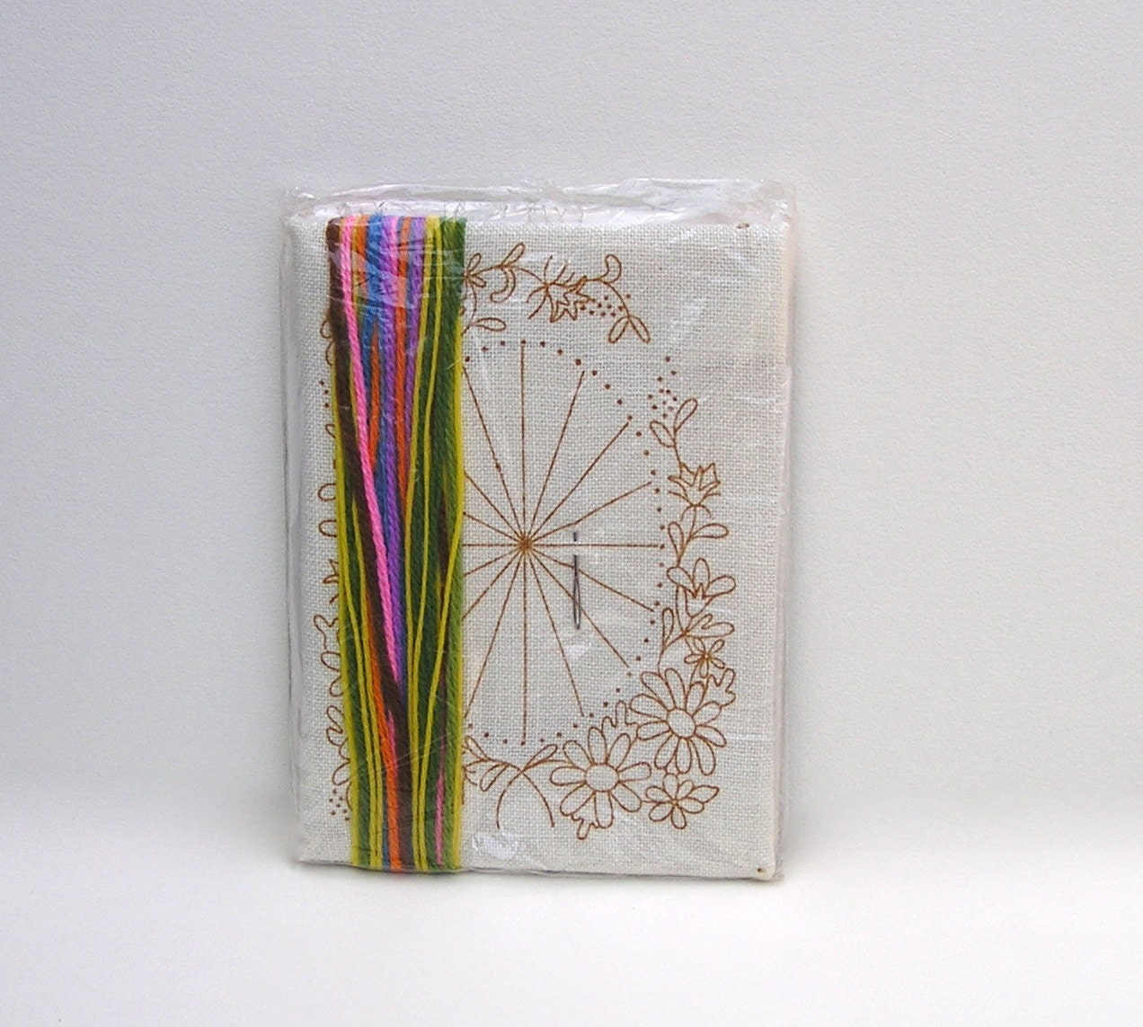 Vintage flower embroidery kit floral photo