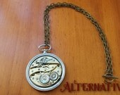 Pocket watch movement necklace Steampunk Necklace
