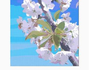 Bargain Needlepoint Spring Flowers Canvas