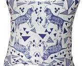 Pillow tiger puzzle blue