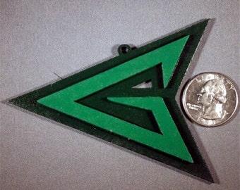 Green Arrow Symbol Ornament