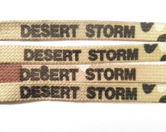 4 Prs. Original Desert Storm Shoelaces Lanyards Cords