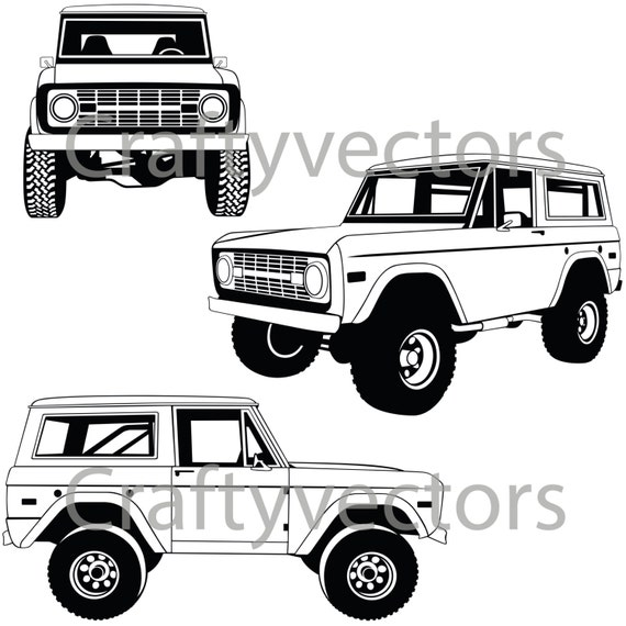 Ford Bronco Vector File on Ford Truck Accessories
