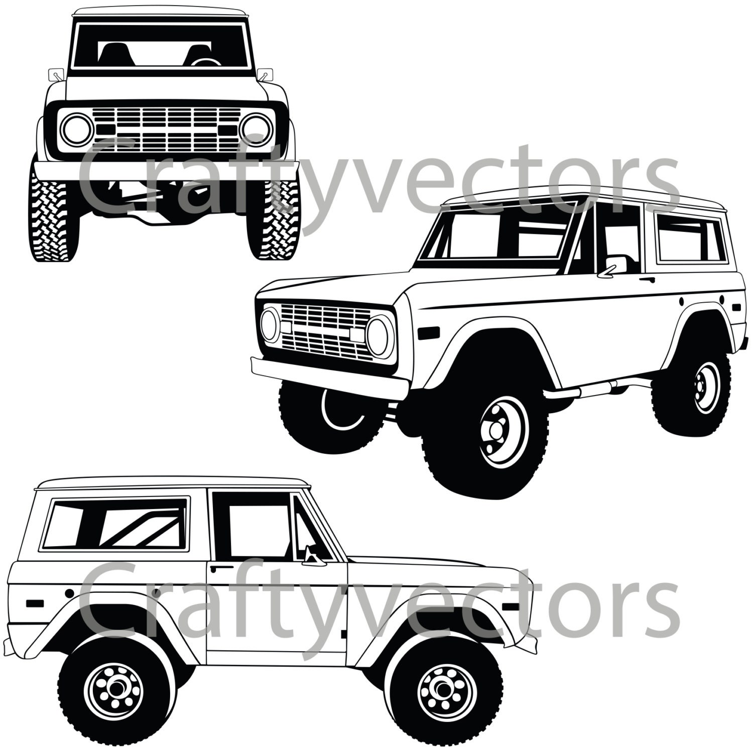 ford bronco silhouette pictures to pin on pinterest