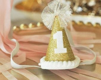 1st Birthday Hat, 1st Birthday Cake Topper, 1st Birthday Cake First Birthday Party Hat
