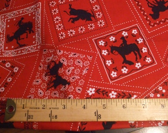 RED or BLUE Bandana Print fat quarter Quilting fabric