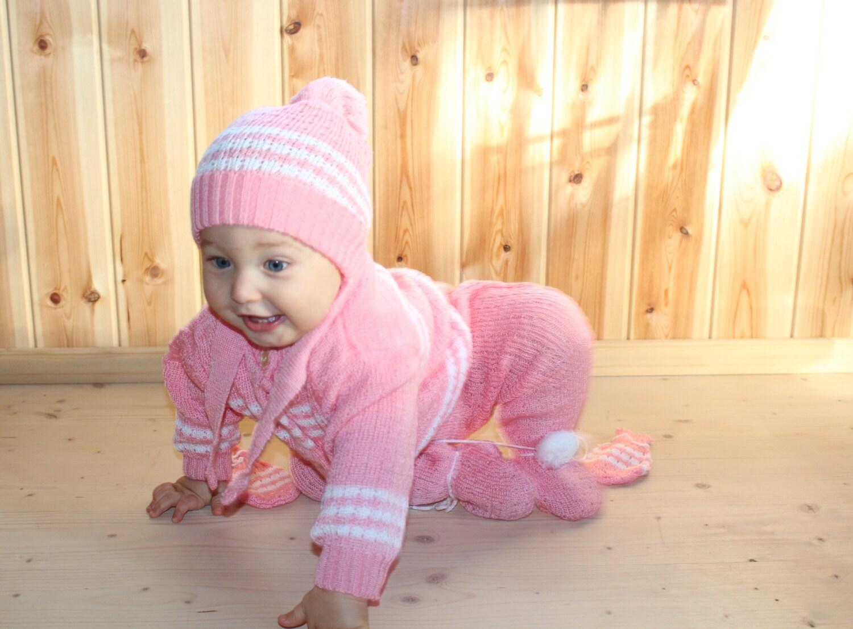 Vintage baby girl clothes Retro baby girl set Soviet baby girl