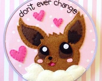 Pokemon Eevee Valentine Embroidery--7 inches
