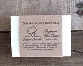 Peppermint Shea Butter Soap - Handmade soap, Cold Process, All Natural soap, vegan soap, essential oil soap