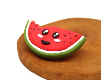 Watermelon / Polymer Clay / Handmade Brooch
