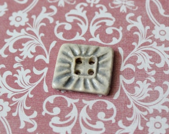 Set of 4 Square Grey Ceramic Buttons