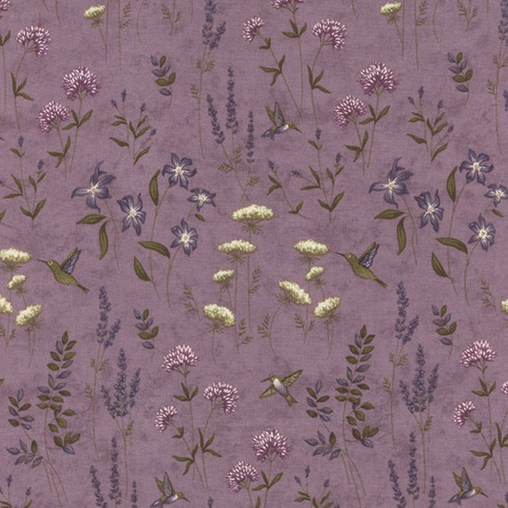 The Potting Shed Floral Earth Flowers Lavendar 1 2 Yard