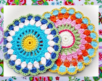 Colorful Circle Flower