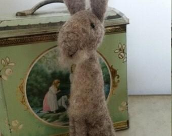 Needle Felted Smokey Grey Rabbit/Hare