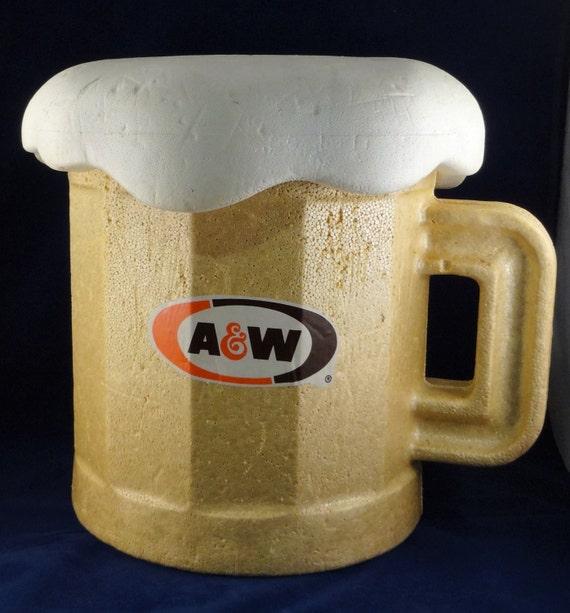 Styrofoam Beer Can Cooler ~ Vintage a w root beer styrofoam cooler mug by