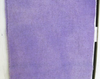 "Hand Dyed and Felted 100% Wool Fabric - Lavender Heather  9"" x 10"" - Applique Wool Fabric"
