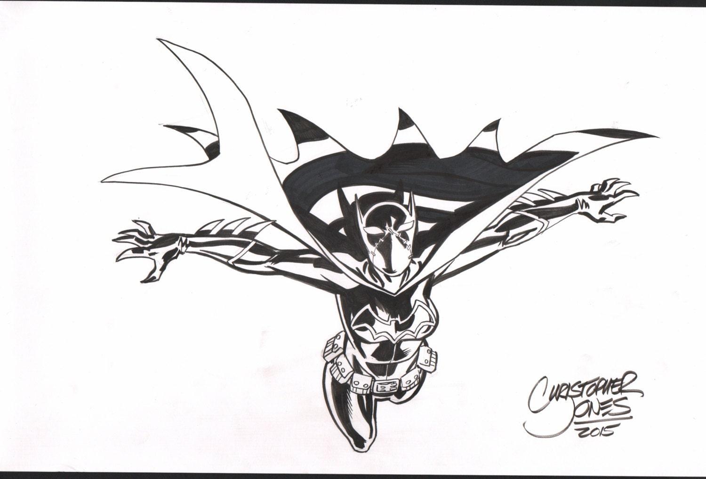 Line Art Etsy : Cassandra cain batgirl original line art by chrisjonesart