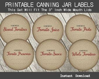 Influential image with printable canning labels
