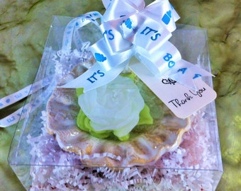 DIY Wedding Favor Candle Kit,  Scented Candle Favor, Handmade Ceramic Dipping Dish in Tulle or Box, Ribbon & Tag, Ring Dish, Wedding Supply