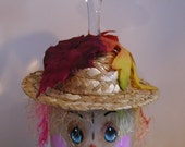 Scarecrow Wine Glass Candle Holder #2