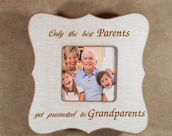 grandparents parents gift only the best parents get promoted to grandparents personalized grandkids grandma 8x8 overall size
