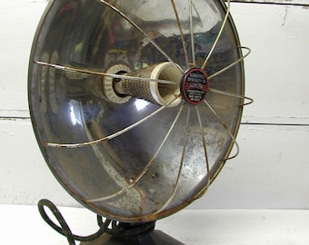 Vintage Retro Space Heater Kinsford Brand Working Condition Cast Iron Base Radiant Incandesant