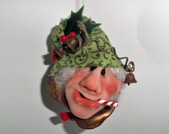 Handcrafted Christmas Ornaments Santa Elf Helpers 2016O-9
