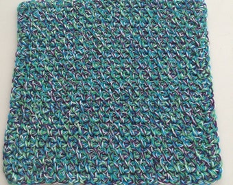 Buy 3 get 1 free. Multi Blue Dish cloth/Wash cloth- Clearance priced