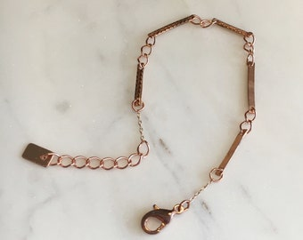 Dainty Copper Chain Bracelet / Copper Bar Bracelet / Minimalist Bracelet
