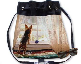 BOHO Backpack Purse Yorkie Yorkshire Terrier