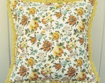 vintage waverly autumn pillow cover 16x16