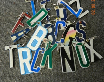 License plate key chain letters or numbers (Made to Order)
