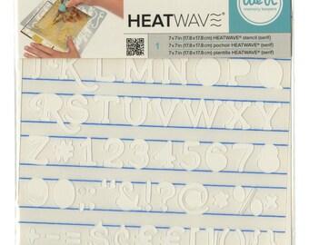 "HEAT PEN STENCiL - Heatwave  "" SERIF  ""  - Use with Heat Foil Pens -  American Crafts - 7x7"