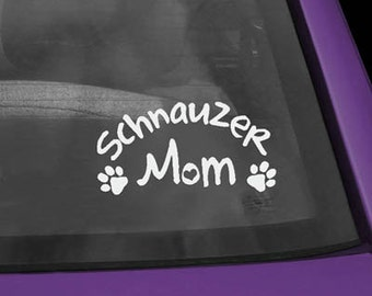 Schnauzer Mom Decal
