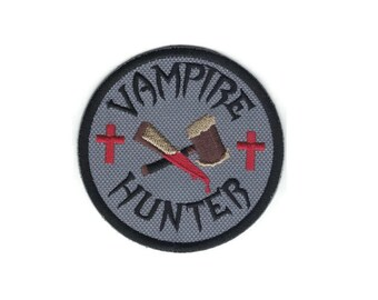 Embroidered Vampire Hunter Patch Iron On Applique